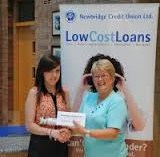 Breda Reid (r) with one of the credit union's 2012 Education Bursary winners, Rebecca Murphy; picture by Leinster Leader