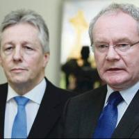 Peter Robinson and Martin McGuinness: another sticky patch in the 'peace process'