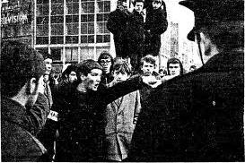 Pictures: above, Dublin Housing Action Committee protest, late 1960s; top left, homeless person in the six counties; top right, ghost estate