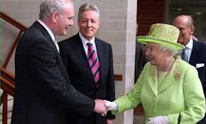 Martin McGuinness make nice with British 'queen' in occupied six counties, 2012