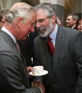 Gerry Adams makes nice with British 'prince' Charles, May 2015