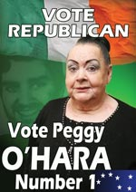 In 2007 Northern Assembly elections Peggy ran as a principled republican, winning just under 2,000 votes