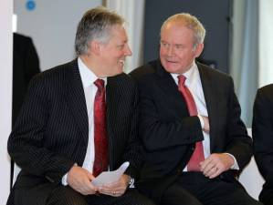 Peter Robinson and Martin McGuinness: no depth too low for the