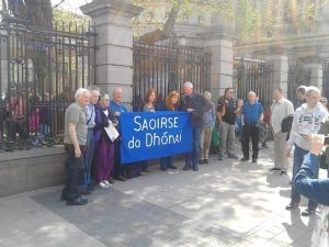 Protest outside Leinster House, Thursday, May 12