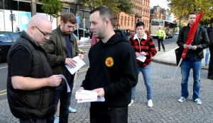 IRSP hand out leaflets to the pacifist left, urging them to adopt the socialist position